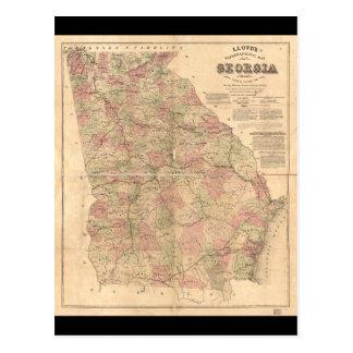 La carte topographique de Lloyd de la Géorgie
