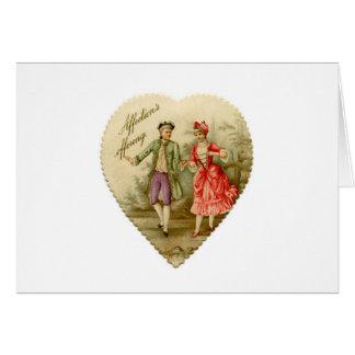 La carte vintage de Valentine de couples