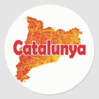La Catalogne Sticker Rond