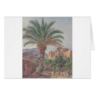 La cathédrale de Capri par Rudolf von Alt Carte De Vœux