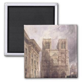 La cathédrale de Notre Dame, Paris, 1836 Aimants Pour Réfrigérateur