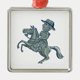 La cavalerie américaine commandent la voiture ornement carré argenté