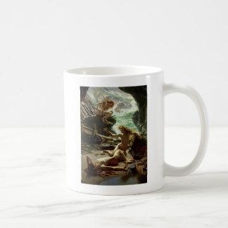 La caverne de la tempête Nymphs, 1903 (huile sur Mug