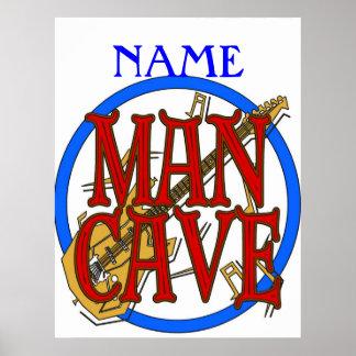La caverne d'homme, NOM ajoutent le texte Posters
