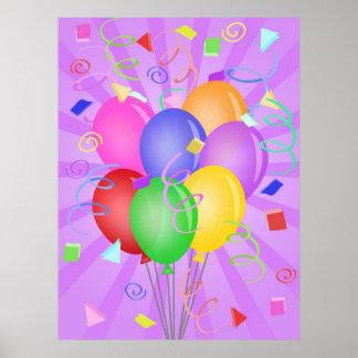 La célébration monte en ballon l'affiche d'illustr poster