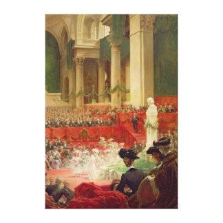 La cérémonie au Panthéon Toiles