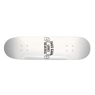 La cette Science d'amour de fille Skateboard 21,6 Cm