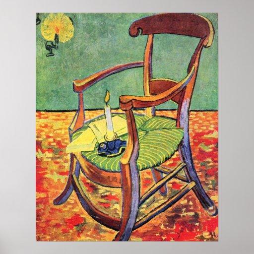 la chaise de paul gauguin par vincent van gogh posters zazzle. Black Bedroom Furniture Sets. Home Design Ideas