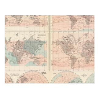 La chaleur au-dessus du globe carte postale