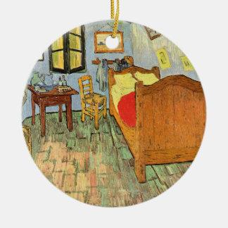 La chambre à coucher de Van Gogh Ornement Rond En Céramique