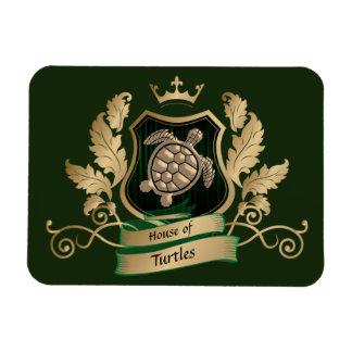 La Chambre des tortues Crest l'or vert d'aimant de Magnet Flexible