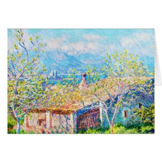 La Chambre du jardinier à Antibes Claude Monet Cartes De Vœux