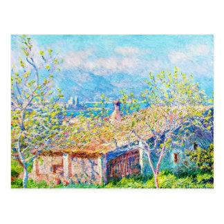 La Chambre du jardinier à Antibes Claude Monet Cartes Postales