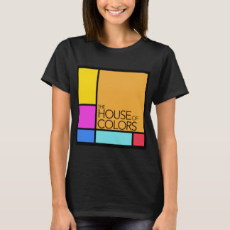 La Chambre du logo de couleurs sur un T-shirt noir
