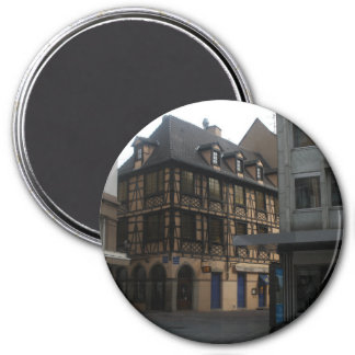 La Chambre Strasbourg France de Kammerzell Magnet Rond 7,50 Cm