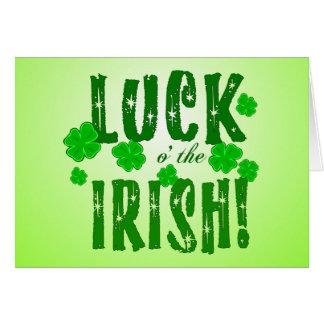 La chance o l'Irlandais tient le premier rôle la Carte De Vœux