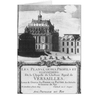 La chapelle royale, illustration de 'Les prévoit Carte De Vœux