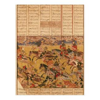 La charge des cavaliers de Faramouz Carte Postale