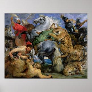 La chasse à tigre, c.1616 affiche