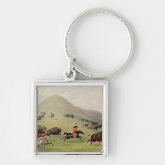 La chasse de Buffalo, c.1832 Porte-clefs