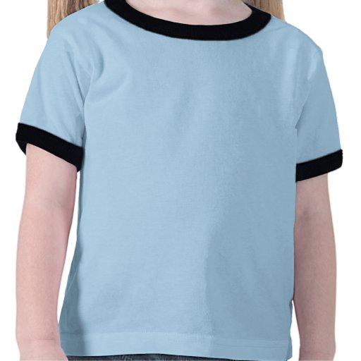 La chemise bleue de sonnerie d'enfant en bas âge d t-shirt