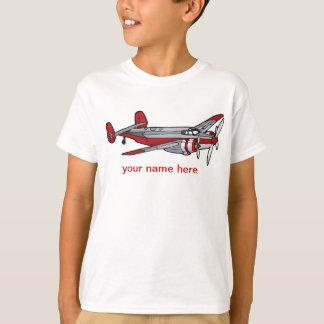 La chemise de base des enfants vintages rouges t-shirt