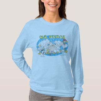 La chemise des femmes de groupe d'acres des t-shirt
