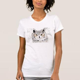 La chemise des femmes de hibou à cornes t-shirt