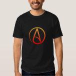 La chemise des hommes athées de symbole t-shirts