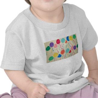 La chemise du bébé de ballons et de flammes d anni t-shirts