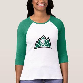 La chemise raglane des femmes d'hockey de t-shirt