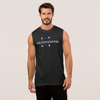 La chemise sans manche des hommes de la nation de t-shirt sans manches