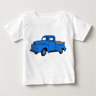 La chemise vintage de l'enfant bleu de camion t-shirt pour bébé