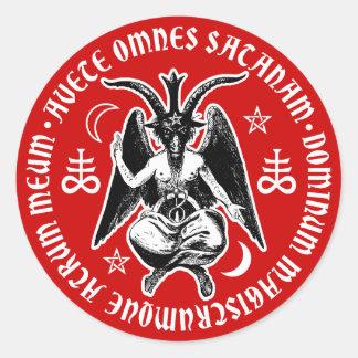 La chèvre satanique a dirigé Baphomet Sticker Rond