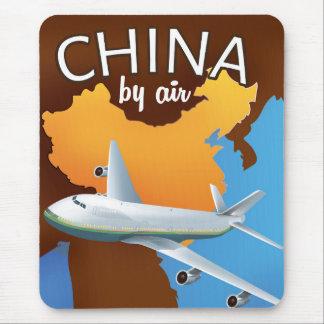 La Chine par l'affiche de transports aériens Tapis De Souris