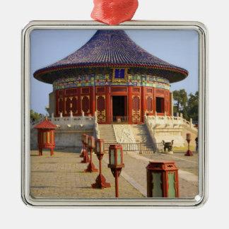 La Chine, Pékin, parc bronzage de Tian, le temple Ornement Carré Argenté