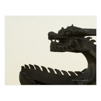 La Chine, scultpture traditionnel de dragon de Carte Postale