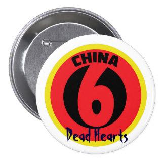 La Chine six boutons - romans morts de coeurs Badge