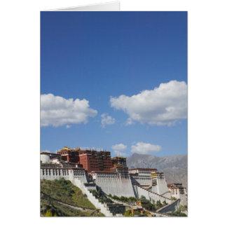 La Chine, Thibet, Lhasa, le Palais du Potala Carte De Vœux
