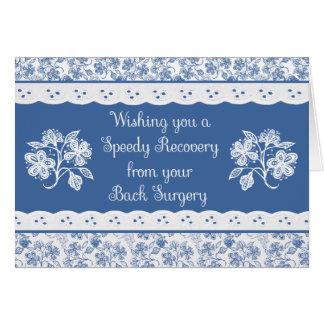 La chirurgie du dos obtiennent la carte florale