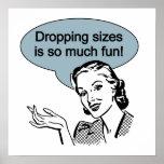 La chute des tailles est tellement amusement poster