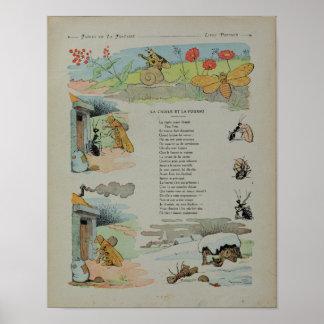 La cigale et la fourmi des fables posters