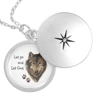 La citation de force de loup a laissé vont laisser pendentifs