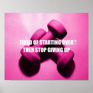 La citation de motivation de séance d'entraînement poster