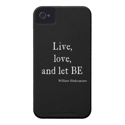 La citation de Shakespeare vivante, l'amour, et on Coques Case-Mate iPhone 4