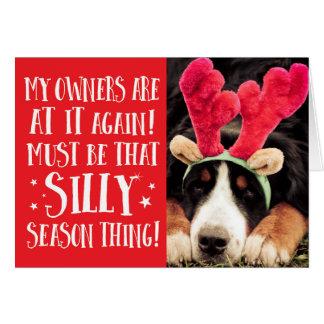 La citation drôle de Noël choie la carte de voeux