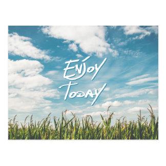 """La citation inspirée """"apprécient aujourd'hui"""" le cartes postales"""