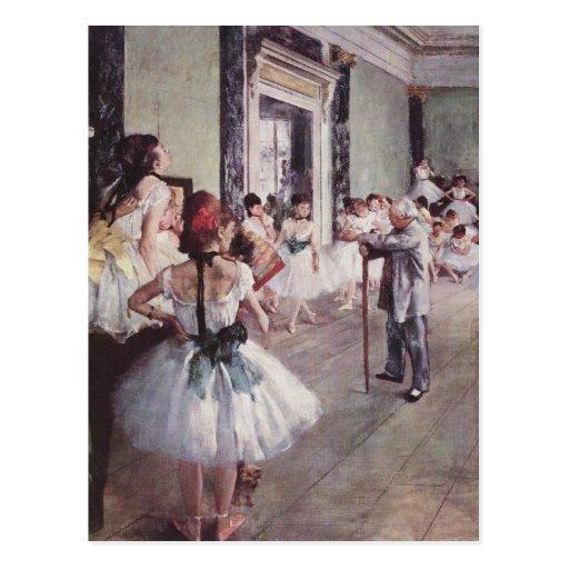 La classe de danse (la classe de danse) carte postale