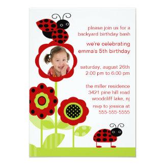 La coccinelle de mod branche l'invitation sur carton d'invitation  12,7 cm x 17,78 cm