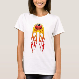 La coccinelle flambe la chemise des femmes t-shirt